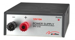 Supplementary power converter 230 V / 12 V power supply unit